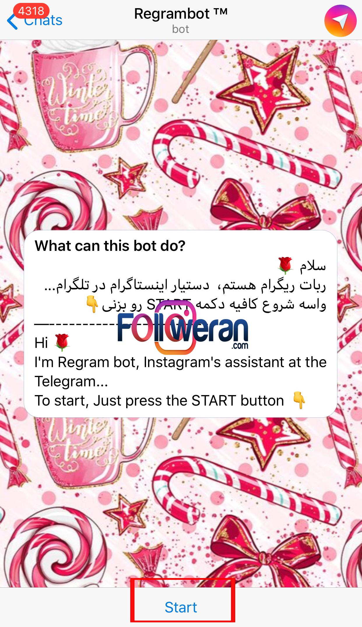 دانلود عکس اینستاگرام با ربات ری گرام