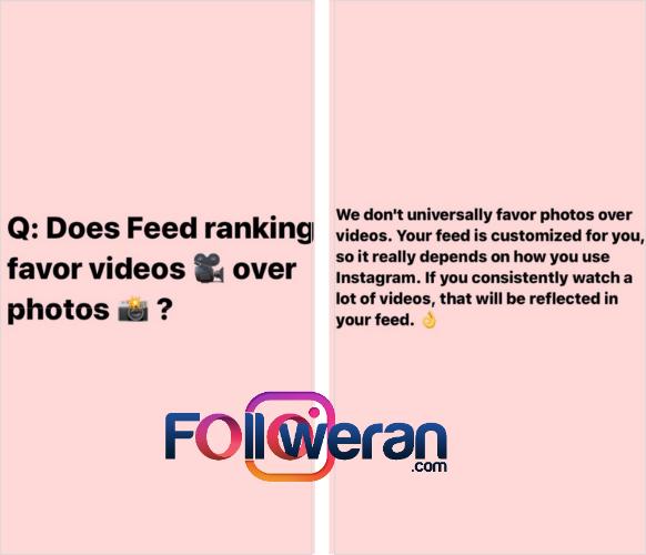 تفاوت عکس و ویدیو برای الگوریتم اینستاگرام