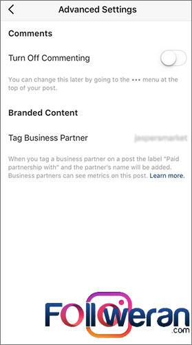 ویژگی Paid Partnership در اینستاگرام