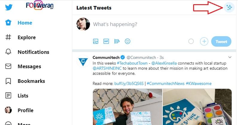 غیرفعال کردن الگوریتم توییتر