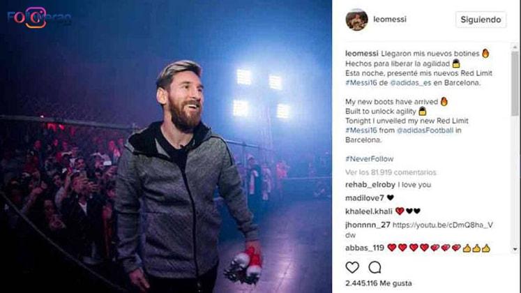 پیج لئو مسی جزو پیج های پردرآمد اینستاگرام