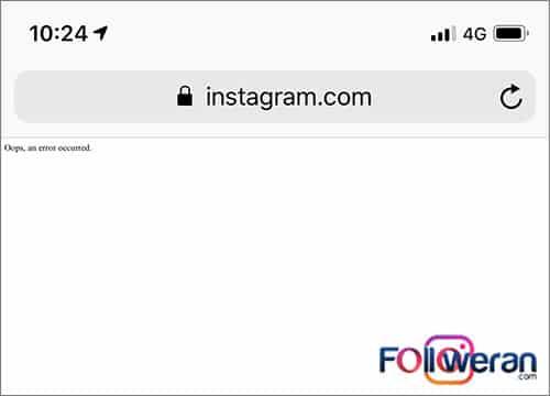 روش های دیگر رفع ارورoops an error occurred در اینستاگرام