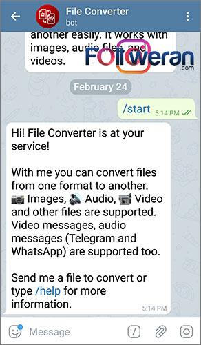 تبدیل فرمت فایل ها با ربات File Converter در تلگرام