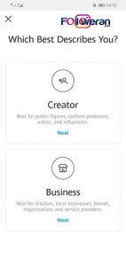 تغیر وضعیت اکانت از شخصی به تجاری برای گذاشتن لینک در استوری اینستاگرام