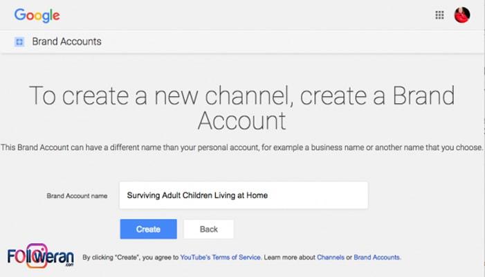 ساخت کانال تجاری یوتیوب