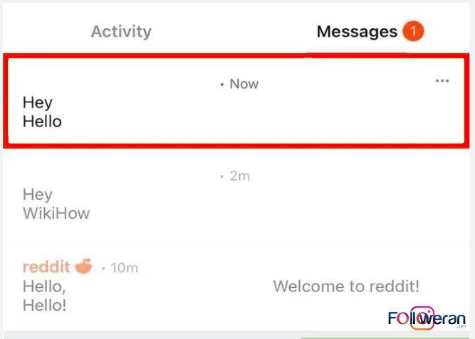 نحوه ارسال پیام در ردیت
