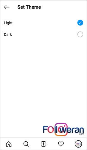 فعالسازی Dark Mode اینستاگرام با گزینه Dark