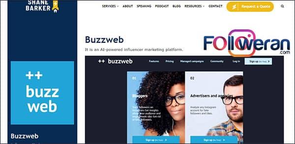 Buzzweb ابزار اینفلوئنسر مارکتینگ