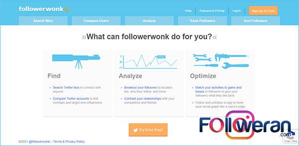 Followerwonk سایت یافتن اینفلوئنسر های شبکه اجتماعی