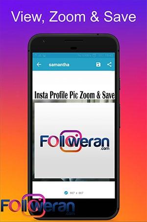 دانلود عکس پروفایل اینستاگرام با اپلیکیشن Insta Profile Pic Zoom & Save
