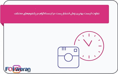تفاوت لیست بهترین زمان انتشار پست در اینستاگرام در پلتفرمهای مختلف